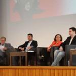 Podium: Yilmaz Kahraman, Mina Ahadi, Lukas Mihr